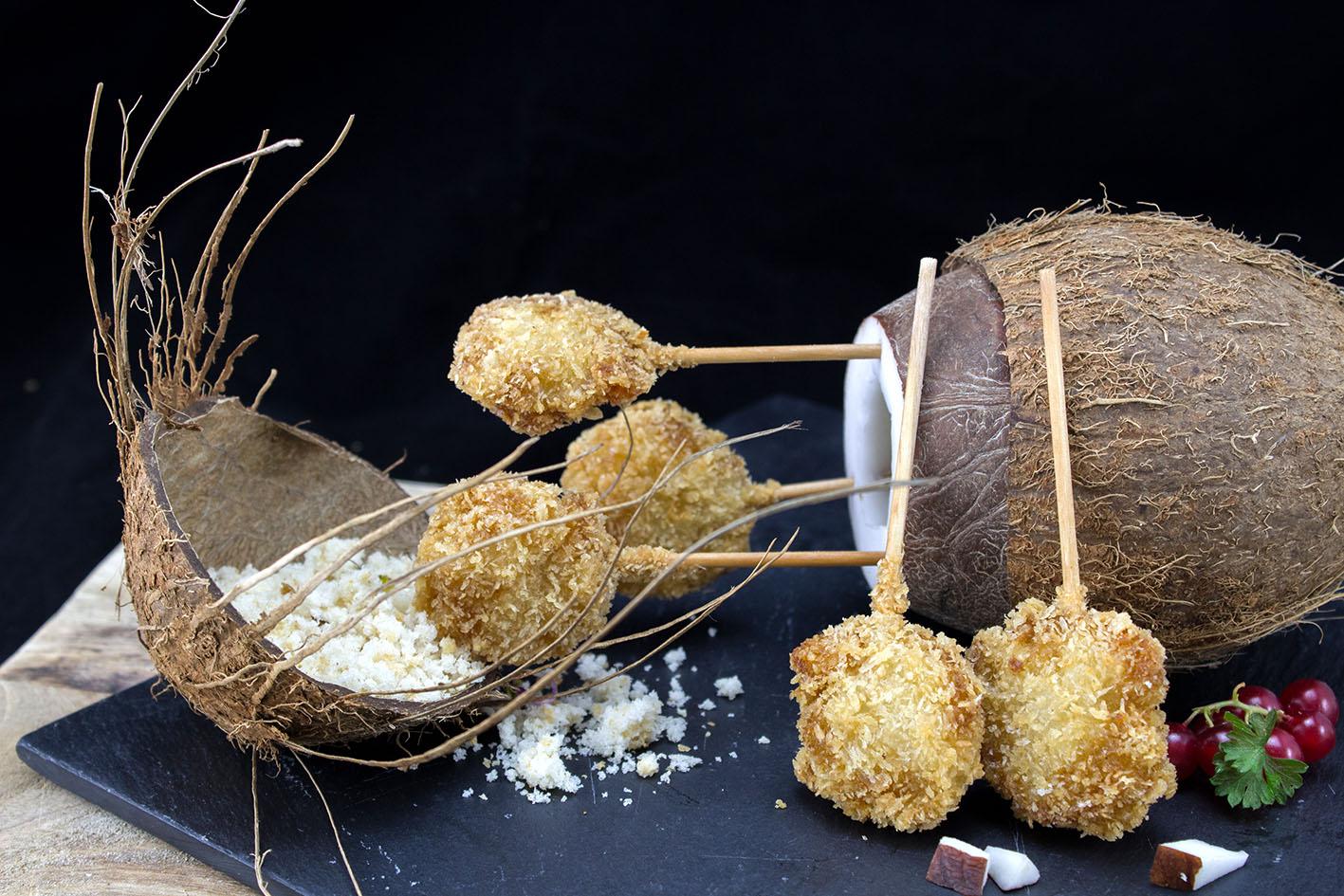 Brocheta de Langostino Panko y coco
