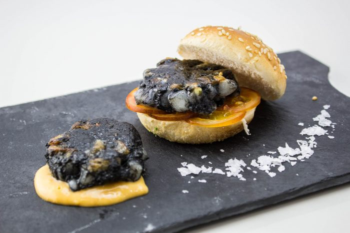 Mini Squid Burger with Ink